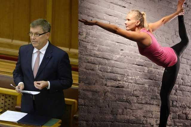 Matolcsy György és Vajda Zita