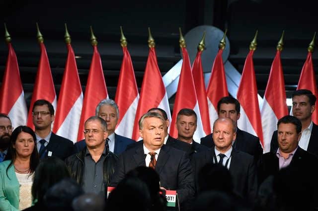 A Fidesz-KDNP eredményváró rendezvénye a népszavazás után