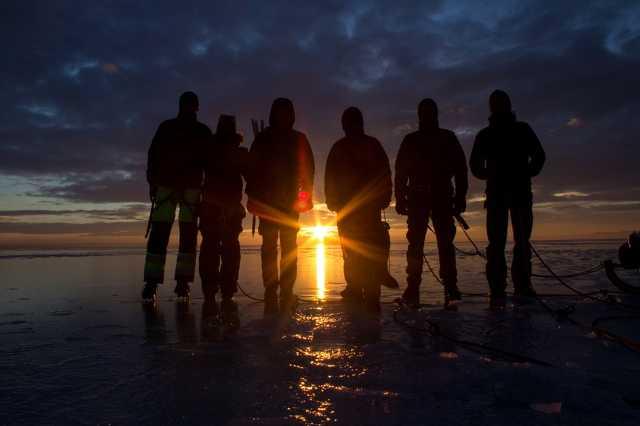 Jégtúra a Balatonon