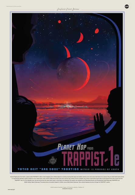 NASA poszterek az új exobolygók felfedezése kapcsán