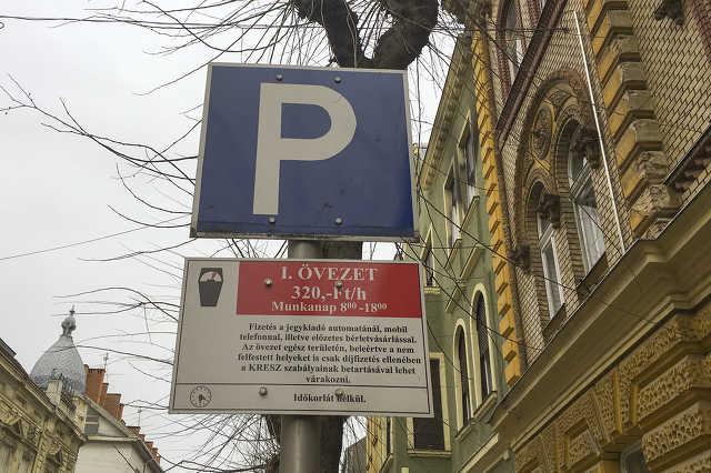 Parkoló övezetek