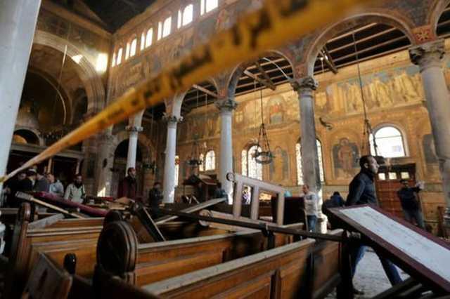 Robbanás egy egyiptomi kopt templomban