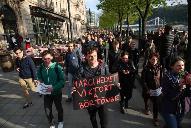 Gulyás Márton tüntetés