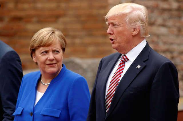 Angela Merkel és Donald Trump