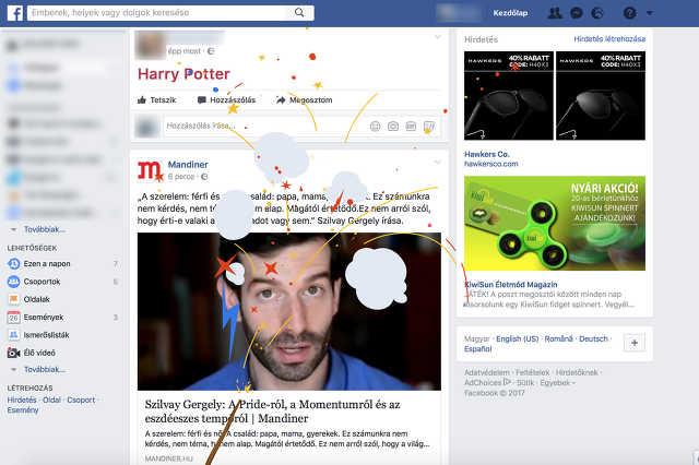 Harry Potter jubileum a Facebookon