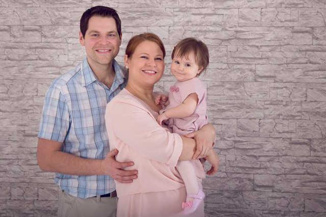 Boros Diána és családja