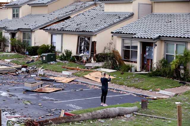 A texasi hurrikán pusztítása