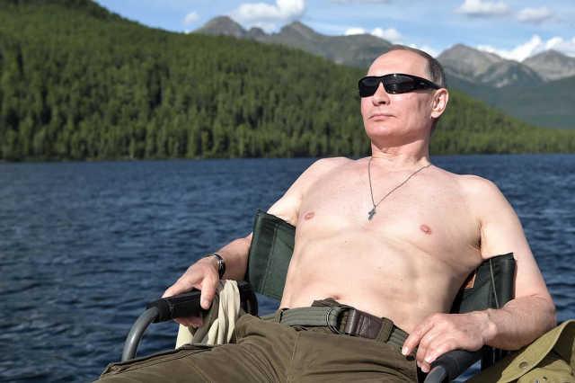 Vlagyimir Putyin nyaral