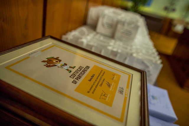 Diákolimpikonok díjazása a városházán
