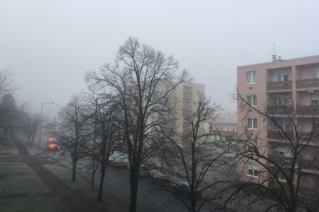 Köd Szombathelyen, karácsony második napján reggel