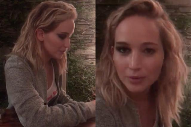 Jennifer Lawrence arcán csak félig készült el a smink