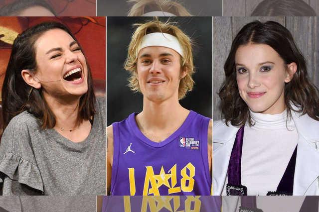Mila Kunis, Justin Bieber, Millie Bobby Brown