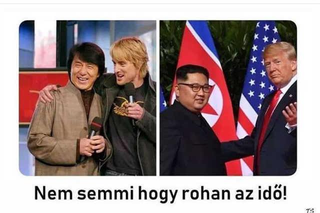 Kim Dzsong Un és Doland Trump