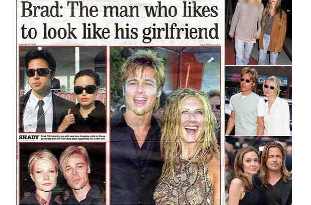 Brad Pitt mindig úhy néz ki, mint a csajai