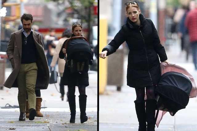 Jessica Chastain és Gian Luca Passi de Preposulo New Yorkban