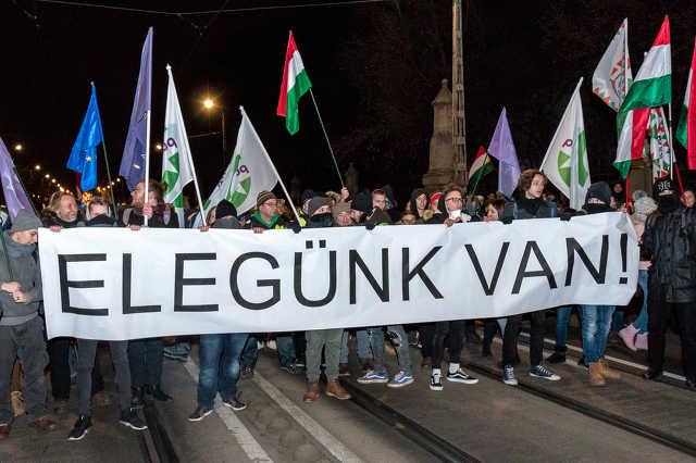 Tüntetés Budapesten 2018. 12. 14.