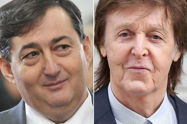 Mészáros Lőrinc és Paul McCartney