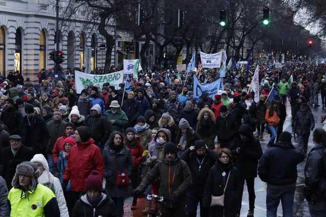 Tüntetés Budapesten, 2019. január 5.