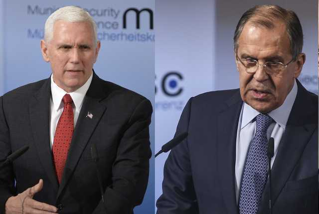 Mike Pence és Szergej Lavrov