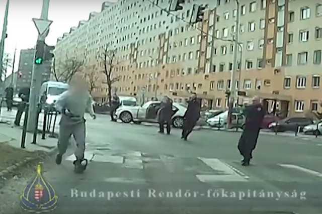 A budapesti fegyveres rab elfogása