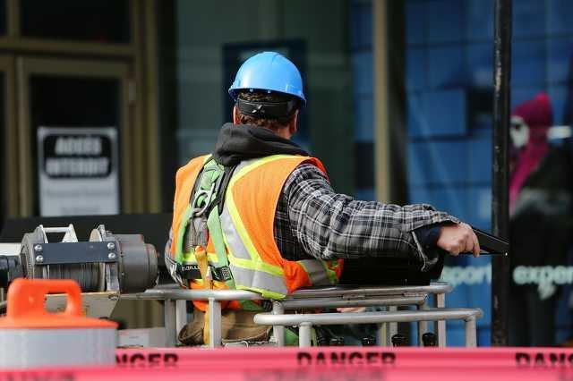 Munkás, építkezés, munka, építőipar, gyár