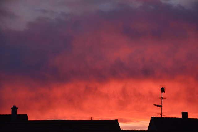 Fényzápor ma hajnalban Szombathely felett