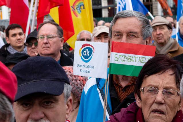 Összellenzéki tüntetés Budapesten 2019. máricus 15-én