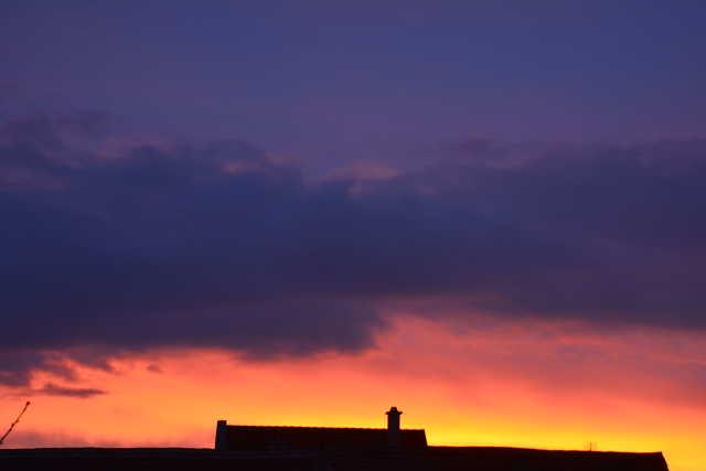 Hajnali égi festmény Szombathelyen