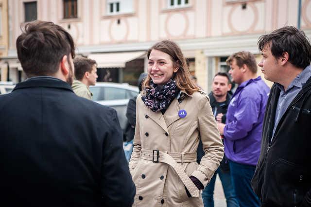 Momentum sajtótájékoztató Donáth Anna