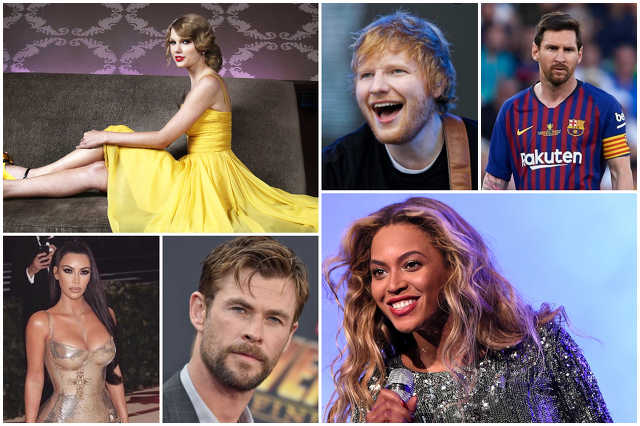 2019 legjobban fizetett világsztárjai