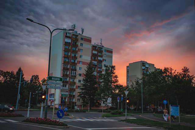 Naplemente Szombathely felett