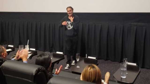 Joaquin Phoenix a Joker vetítésén
