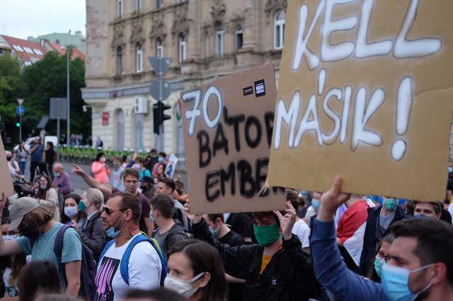 Tüntetés Budapesten Index