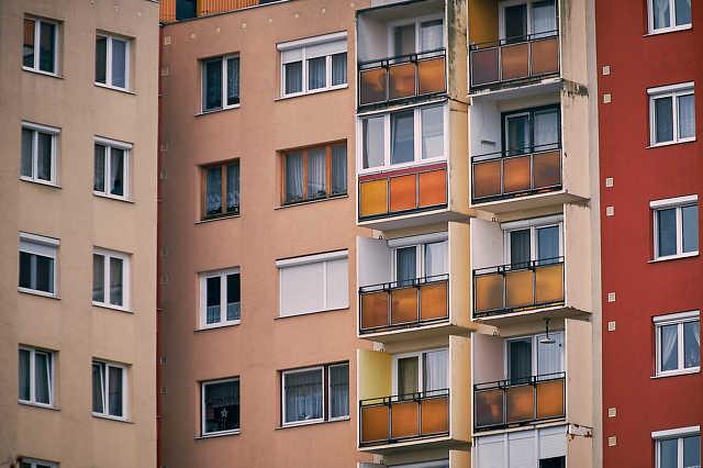 Lakás, ingatlan, panel, épület, albérlet