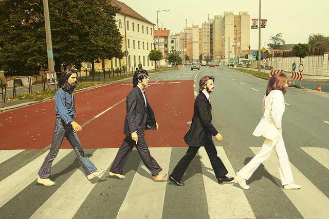 Beatles a Thököly Imre zebráján