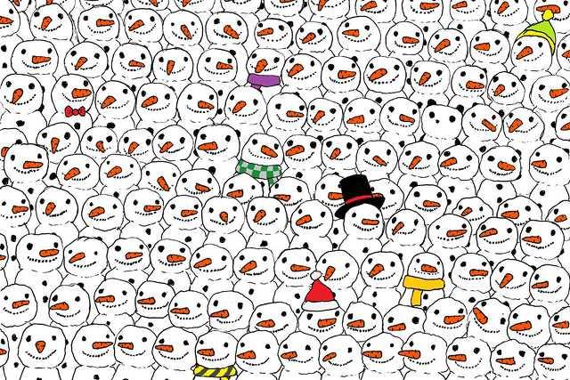 Hóemberek közé bújt panda