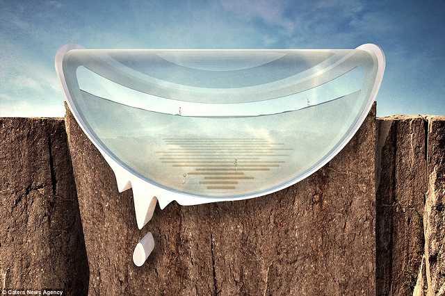 Az üvegfal mögül biztonságban gyönyörködhetnénk a tájban