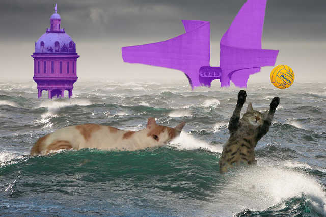 Szombathelyi paródiaváltozata is készült az úszóvébé nevetséges plakátjainak