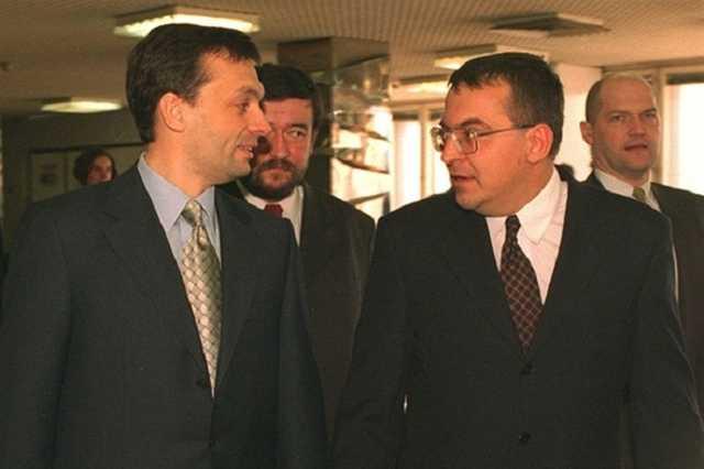 Orbán és Simicska az első Orbán-kormány idején