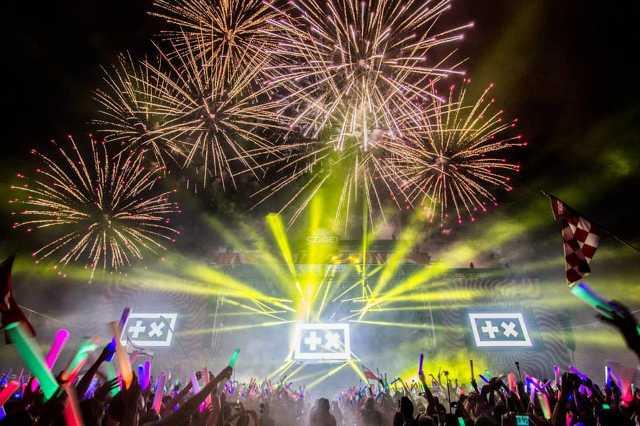 Tűzijáték a Sziget fesztiválon