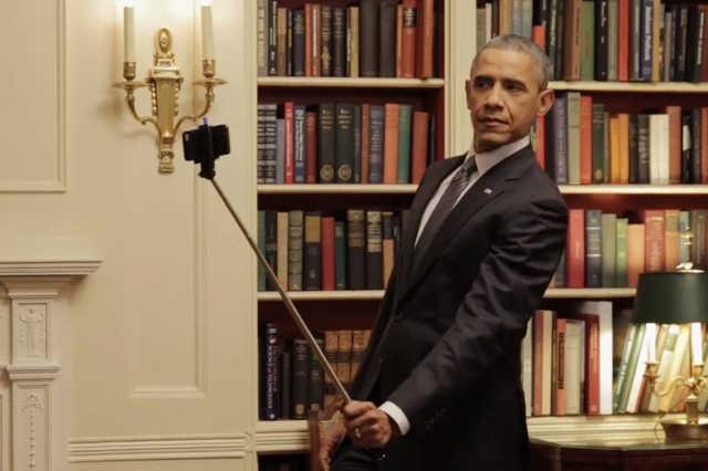 Barack Obama és a szelfibot
