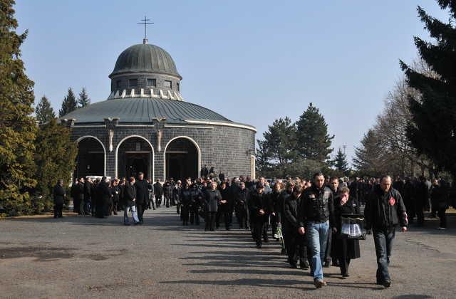 Halász Norbert búcsúztatása a Jáki úti temetőben