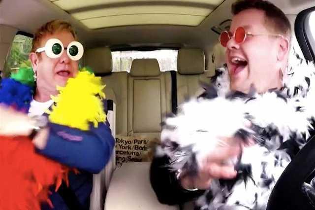 Elton John és James Corden