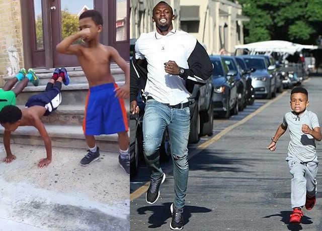 Demi és Usain Bolt