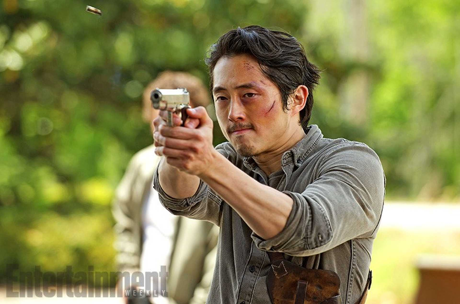 Steven Yeun a The Walking Deadben.