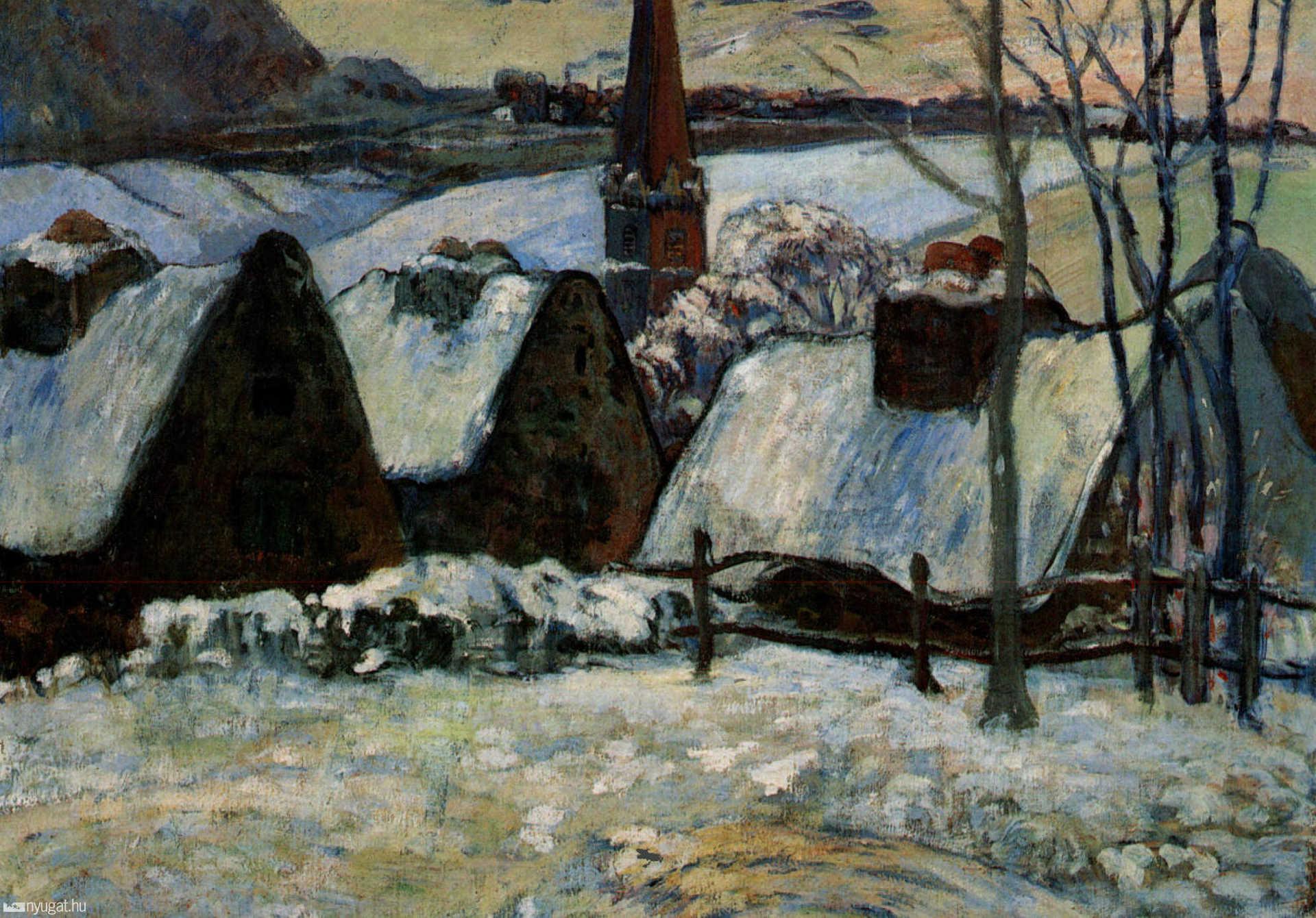 Paul Gauguin: Breton Village in the Snow (1894.)
