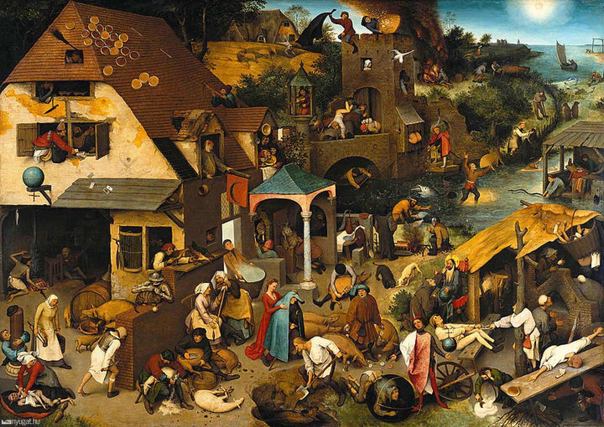 id. Pieter Bruegel: Flamand közmondások (1559.)