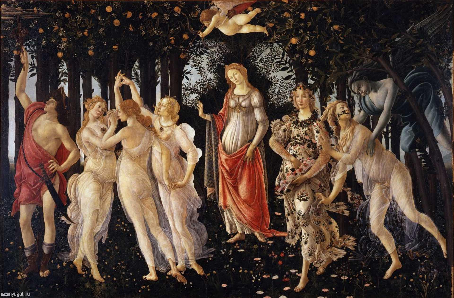Sandro Botticelli: A tavasz (1482.)