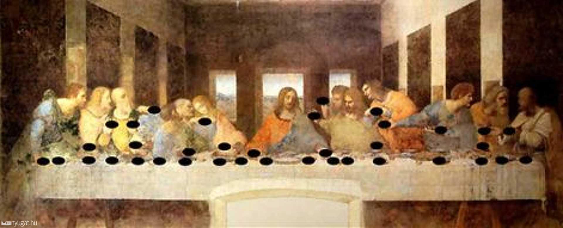 Leonardo da Vinci: Az utolsó vacsora (1498.)