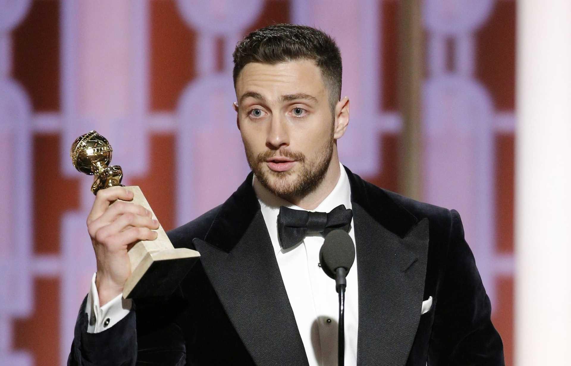 Egy friss díjazott, a legjobb férfi mellékszereplő kategória győztese Aaron Taylor-Johnson